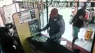Assalto a supermercado Kiko em Caaporã, imagem cedida pela polícia