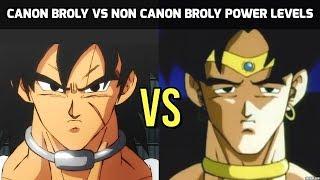 Old Broly vs New Broly Power Levels (DBZ vs DBS)