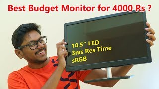"""Best Budget Gaming Monitor 2019 for only 4000 Rs ? ( 18.5"""" LED + 3ms Response Time + sRGB )"""