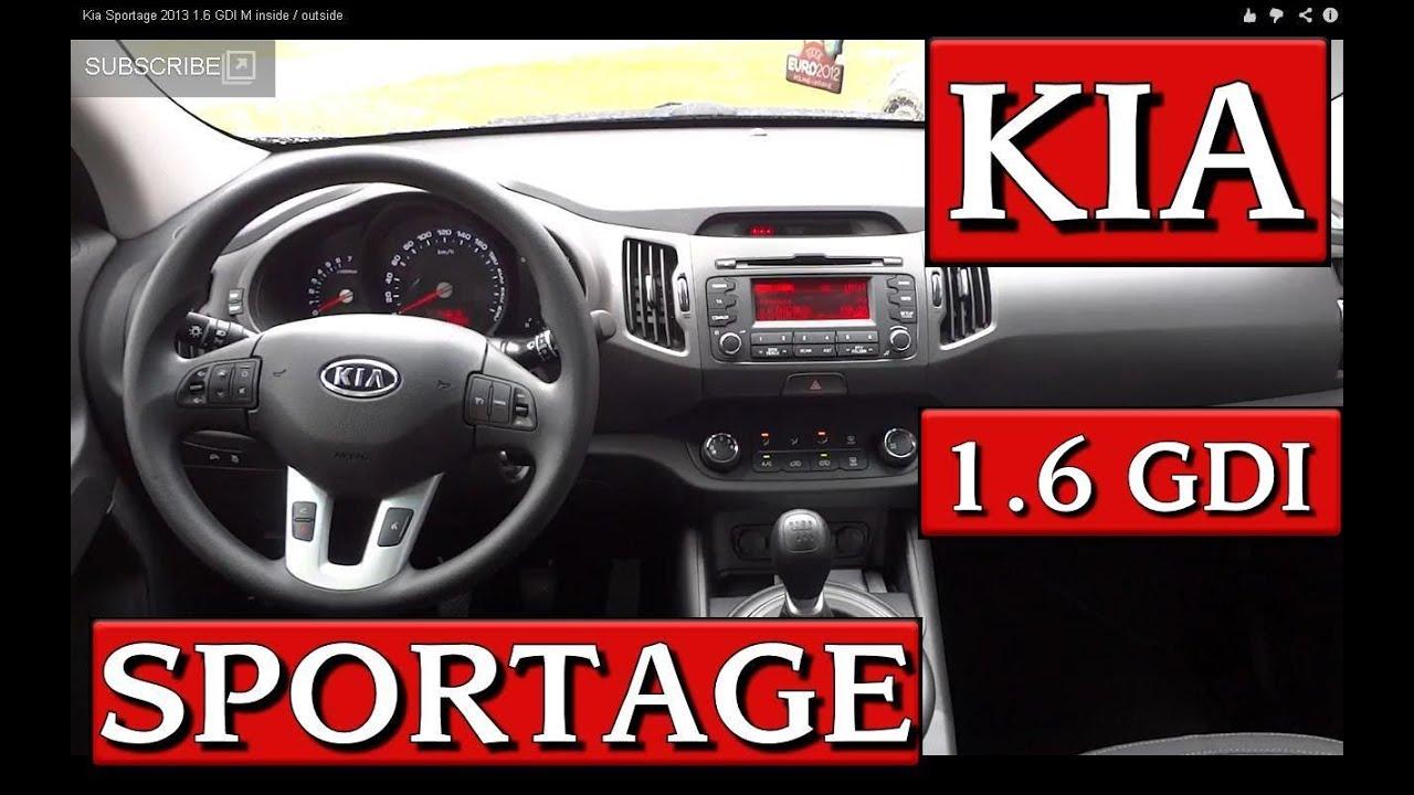 Kia Sportage 2013 1.6 GDI M inside / outside - YouTube