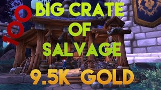 Wow: 100 Big Crates of salvage - 9.5K Gold