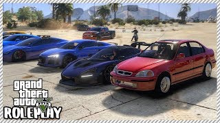 GTA 5 Roleplay - Sleeper Honda Civic Drag 'EMBARRASSED' Supercars | RedlineRP #195