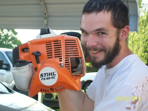 STIHL FS 56 RC Weed Eater (Review in Action)