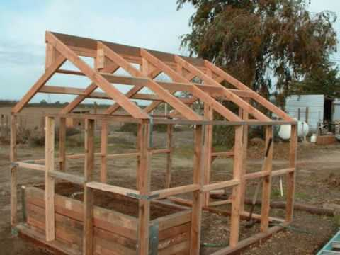 Building a basic low cost greenhouse sj ranch youtube for Small wooden greenhouse plans