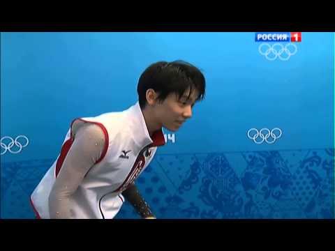 Hanyu Yuzuru Reacts To Getting Gold @Sochi 2014
