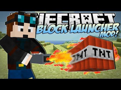 Minecraft | BLOCK LAUNCHER MOD! (Fire Any Blocks to KILL!) | Mod Showcase