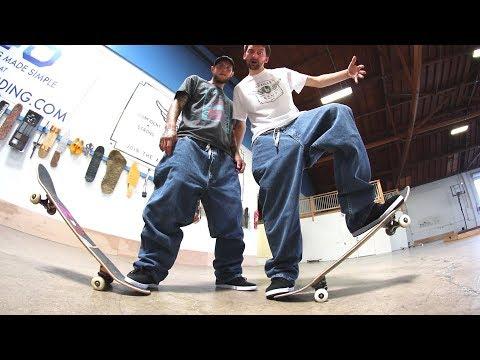 SUPER BAGGY JEANS GAME OF SKATE!   STUPID SKATE EP 106