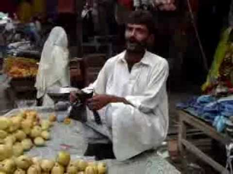 Funny pakistani punjabi fruit vendor
