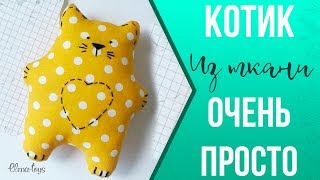 How to sew a primitive cat. Valentine or a cute gift with their own hands.