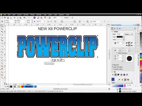 CorelDRAW X6 New Power Clip Tutorial