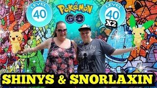 🔴 Live 🔴 Reaching Level 40 ×2 🤩 Shiny Pokemon - Snorlaxin- Gym Takedowns|  Pokemon GO