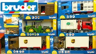 Bruder Toys 2018 NEWS unboxing - Truck, Tractor, Garbage truck and Van | Kids video