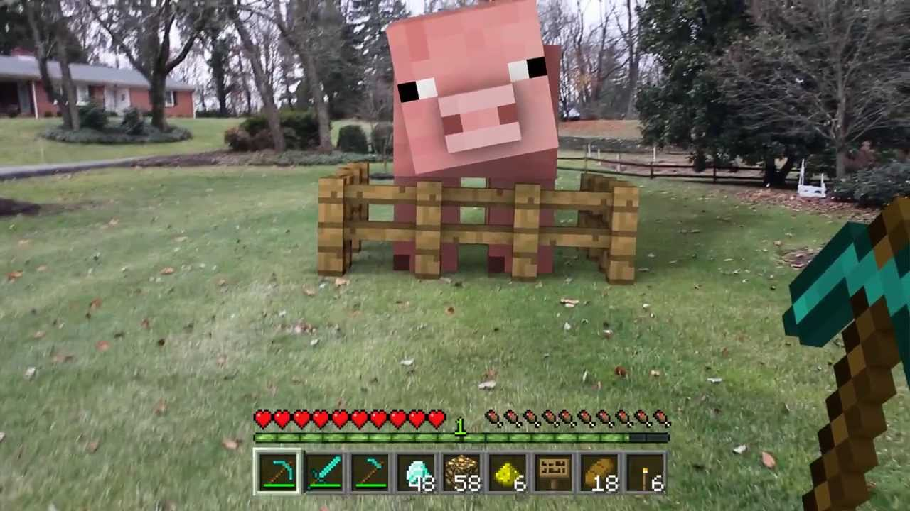 Giant Minecraft Pig In Real Life Test YouTube