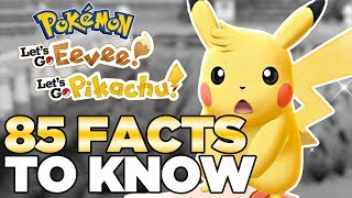 85 Facts for Pokemon Let's Go Pikachu & Eevee | Austin John Plays