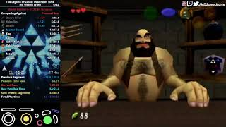 The Legend of Zelda: Ocarina of Time Any% No WW Speedrun in 1:00:29 by JMD