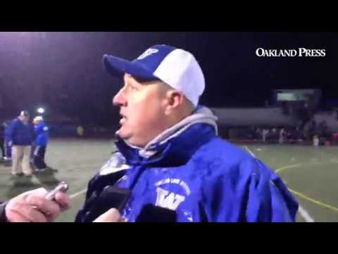 WL Western head coach Mike Zdebski after 14-13 win over South Lyon #mipzfootball