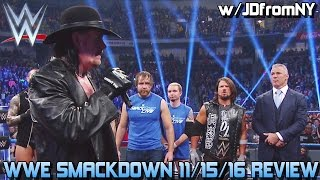 WWE Smackdown 11/15/16 Review: The Undertaker RETURNS To WWE With A Grave Survivor Series Message