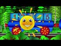 Мультики про Весёлый Паровозик - учим цифры от 1 до 10 - детские песни - песенка паровозика