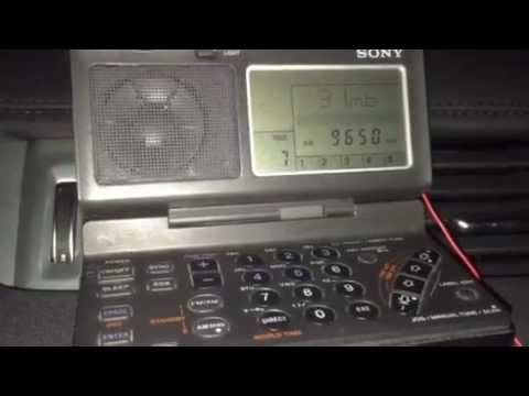 Sony ICF-SW100 outdoor test: Radio Sonder Grense 9650 KHz South Africa