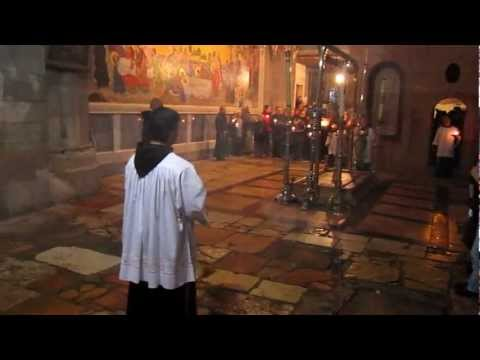 Daily Processional Mass at Jerusalem's Church of the Holy Sepulchre
