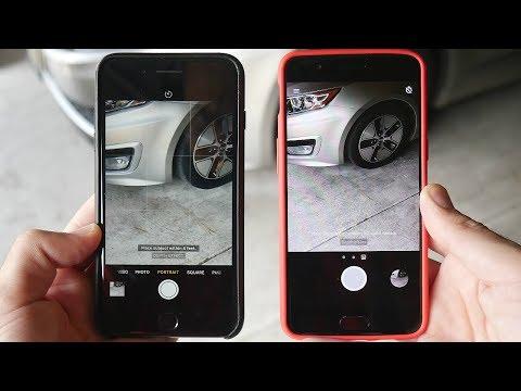 iPhone 7 Plus Portrait Mode vs OnePlus 5 Comparison!