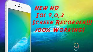 Awesome HD Screen Recorder ios 9.0.3! No Jailbreak! Uses Laptop!