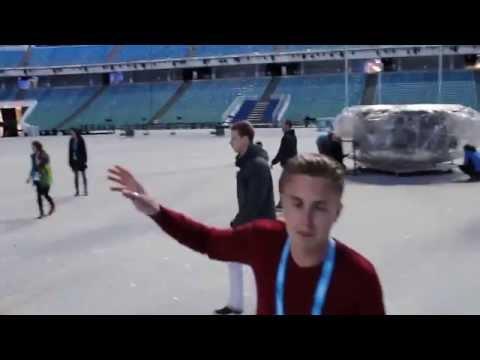 Стадион ФИШТ, футбол после церемонии закрытия параолимпийских игр