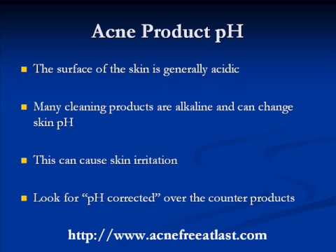 Acne Skin & Skincare Product pH -