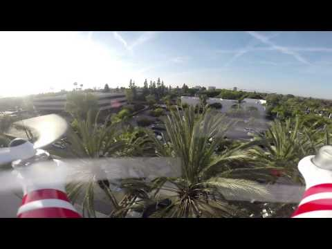 Drone hovers over Bowers Museum