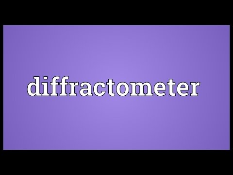 Header of diffractometer