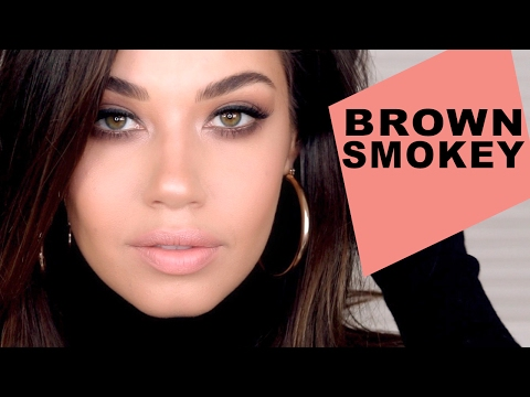 Soft Brown Smokey Eye Makeup Tutorial   Valentines Day Makeup   Eman