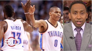 Stephen A. lists the pros and cons of the Russell Westbrook-James Harden Rockets | SportsCenter