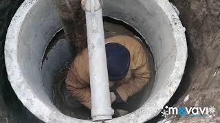 Колодец под скважину. Монтаж водопровода