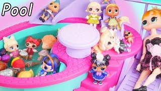 LOL Surprise Doll Pool Party | Open Under Wraps Makeover Series 5 with Barbie