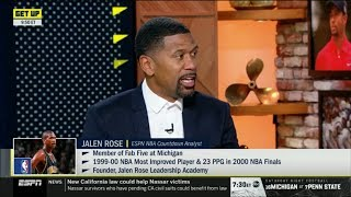 "ESPN GET UP | Jalen Rose react to Kawhi: Load management plan will be used on ""game-by-game basis"""