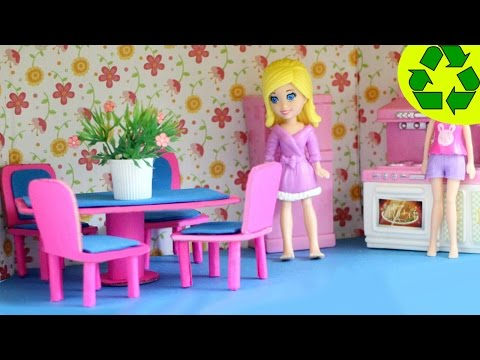 How to make a mini doll dinning room set with cardboard and paper- Doll Crafts