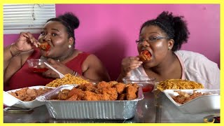 EXTREMELY CRUNCHY Fried Chicken Mukbang   DeLexisEats