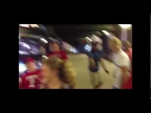 Going Crazy after Rangers Walkoff Win vs. Twins 7-8-12