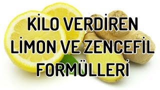 Kilo Verdiren Limon ve Zencefil Formülleri