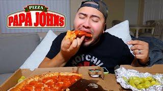 Papa Johns Pizza MUKBANG