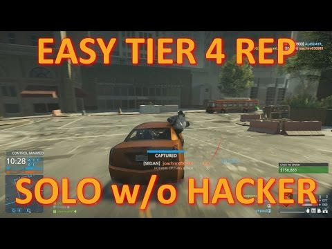 Battlefield Hardline: Easy Tier 4 Reputation (Solo w/o Hacker)