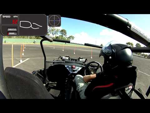Full Charge Motorsport Electric race car in action at the khanacross 22 05 16 test 4