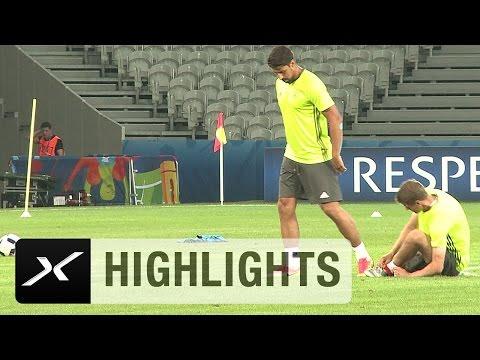 Thomas Müller von Sami Khedira gefällt | Deutschland - Ukraine | EM 2016