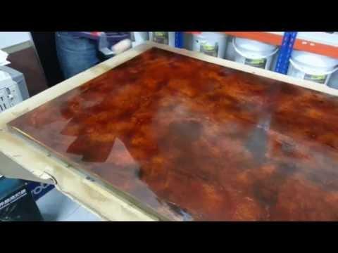Aplicación de microcemento de efecto óxido - Pinturas RODAFUERTE