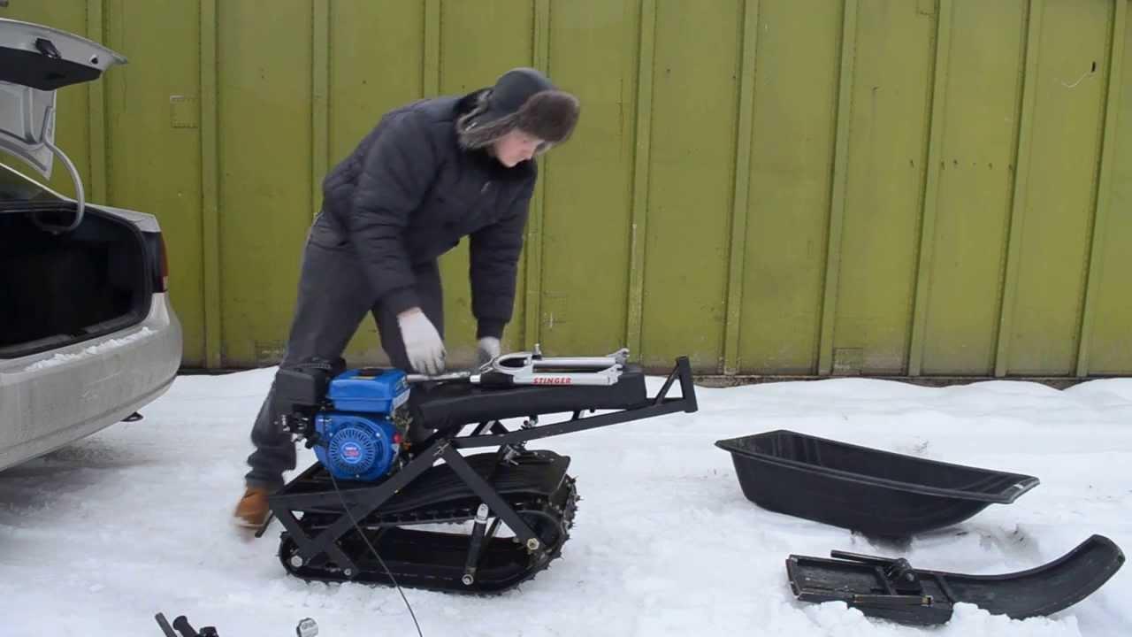 Видео мини снегоходы своими руками видео
