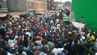 Angry Governor Sonko stops illegal Demolitions in Madiwa Eastleigh!