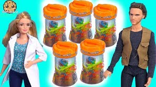 The New Mad Lab Slime Surprise Blind Bags with Dinosaurs ! Barbie Video