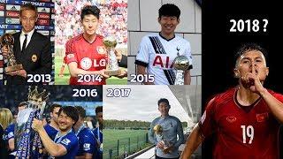Quang Hải đứng chung cùng Song Heung Min trong top 24 cầu thủ xuất sắc nhất châu Á 2018