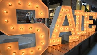 Broadway Letters with Bulbs -  Design 3D letters with lights