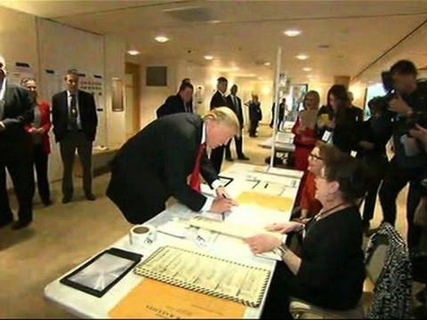 Donald Trump Casts Vote in New York Primary